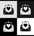 envelope with valentine heart icon isolated on vector image vector image