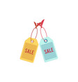 flat orange sale price tag icon vector image vector image