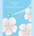 flower frame text insertion vector image
