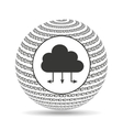 globe binary concept cloud connected vector image