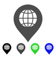 globe marker flat icon vector image