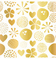 gold foil abstract shapes seamless pattern vector image