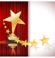 golden star award vector image vector image