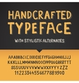 handcrafted typeface letters and numbers vector image vector image