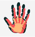 handprint family palm man woman and child vector image