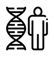 human and molecule dna icon outline vector image vector image