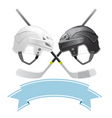 ice hockey emblem vector image vector image