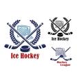 Ice hockey symbol vector image vector image
