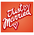 just married sign vector image vector image