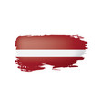 latvia flag on a white vector image vector image