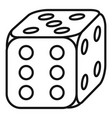 Lucky dice icon outline style