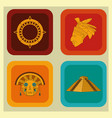 maya icon set design vector image