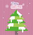 merry christmas celebration decoration tree vector image vector image