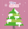 merry christmas celebration decoration tree with vector image vector image