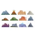 mountain erupting volcano iceberg rock vector image