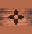 new mexico state flag brand vector image vector image