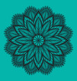 oriental mandala ornament template for vector image vector image