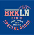 original quality brooklyn denim vector image vector image