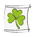 paper with clover or shamrock saint patricks day vector image