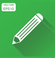 pencil icon business concept pencil pictogram on vector image