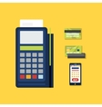 POS Terminal with Credit Card Icon vector image vector image