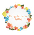 postcard to mother s day with flowers vector image