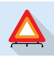 Red reflecting traffic warning triangle vector image vector image