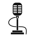 retro microphone icon simple style vector image