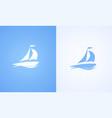 sailboat on ocean wave vector image vector image