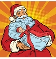 Santa Claus with gift - newborn girl vector image