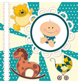 scrapbooking card for baboy vector image