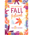 seasonal fall festival poster vector image