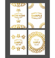 set floral decorative logo frame border vector image