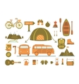 Set of equipment for camping vector image
