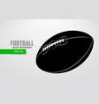 silhouette a football ball vector image vector image
