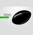 silhouette of a football ball vector image vector image