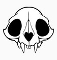 simple animal skull with filling vector image
