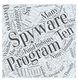 Spyware Overview Word Cloud Concept vector image vector image