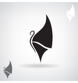 Stylized black silhouette of a butterfly vector image vector image