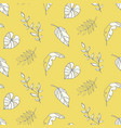 summer background tropical leaves pattern vector image vector image