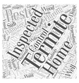 Termite Inspection Word Cloud Concept vector image vector image