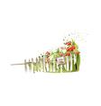 The flower garden vector image vector image