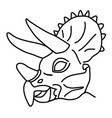 triceratops icon doodle hand drawn or black vector image vector image