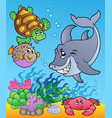 underwater animals and fishes 1 vector image