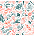 vegetables and herbs seamless pattern vector image vector image