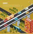viaduct city isometric composition vector image
