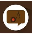 vinyl music note icon symbol design vector image