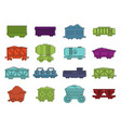 wagon icon set color outline style vector image vector image
