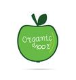 green apple organic vector image