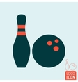 Bowling game icon vector image